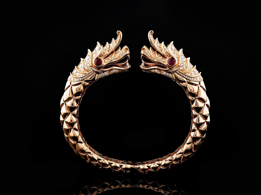 Artinian Pha Ya Nak Dragon Bangle